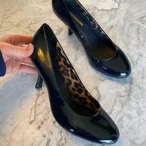 Arturo Chiang Blue Shiny Leather Heels 8.5